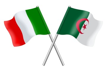 Flags: Italy and Algeria