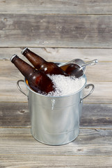 Bucket filled with Ice and Beer
