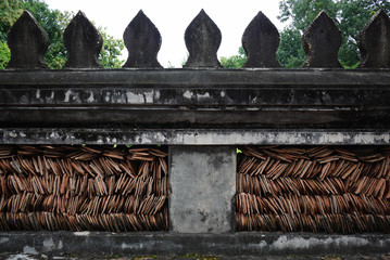 Wall texture at Wat Phre Keaw