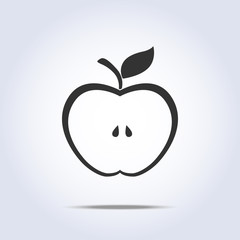 Apple half icon