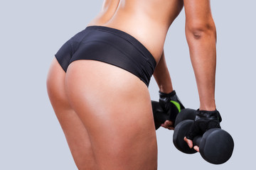 Weight training.