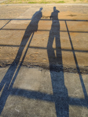Shadows of Two People