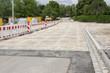 Neu verlegte Pflastersteine auf einer Strasse