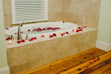 Romantic Rose Petal Bath