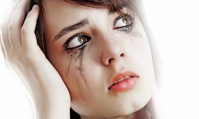 crying sad young girl