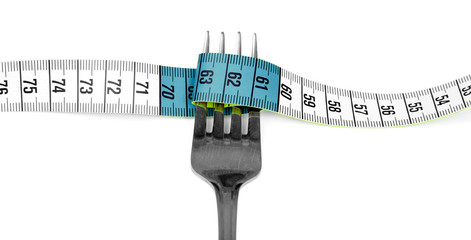 Fork and measuring tape