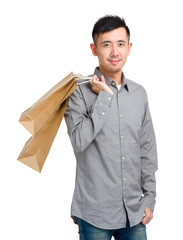 Man hold with shopping bag
