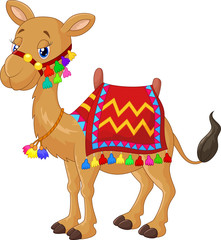 Cartoon decorated camel