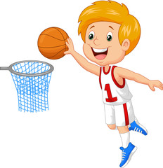 Kid playing basket