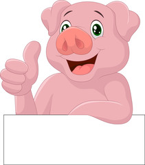 Pig giving thumb up