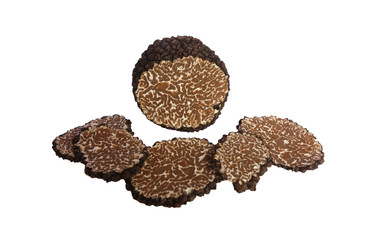 sliced summer black truffle