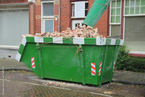 Loaded dumpster - 67461398