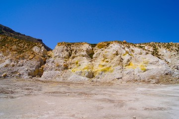 Nisyros Vulcano Crater