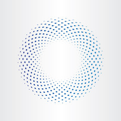halftone circle with squares