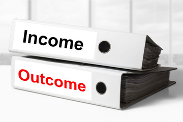 income outcome office binders