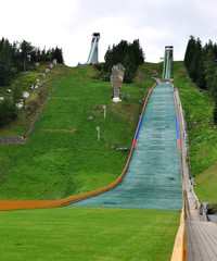view of the ski jumps, Slovakia, Europe