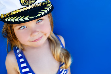 Cute girl in sailor costume