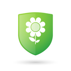 Shield icon with a flower
