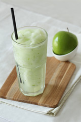 apple smoothies drinks on white background
