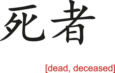 Chinese Sign for dead, deceased