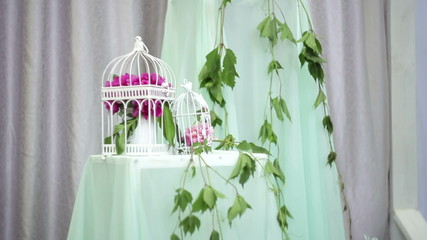 beautiful wedding decoration in gentle tones