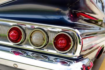 1961 blue Chevrolet Impala taillights