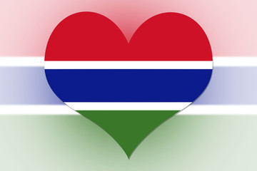 Gambia Flag heart
