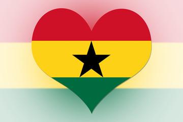 Ghana Flag heart