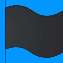 Abstract carbon vector background with blue frame