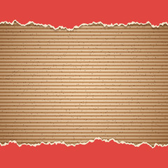 Cardboard vector background with rough paper board