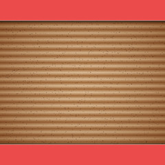 Cardboard vector background with red paper frame