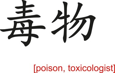 Chinese Sign for poison, toxicologist