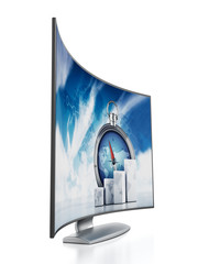 Curved OLED television