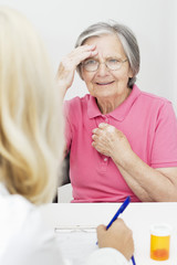 Senior woman visit a doctor