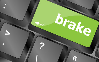 brake button on computer pc keyboard key
