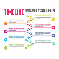 Infographic Vector Concept in Flat Style - Timeline Template