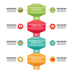 Infographic Business Concept - Timeline Vertical