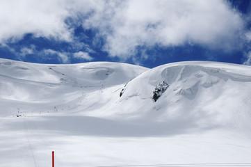 sci estivo sul ghiacciaio del Cervino