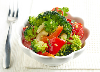 bowl of vegetable salad