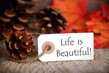 Fall Tag with Life is Beautiful