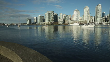 Yaletown View, False Creek Sailboats, Vancouver