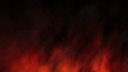 Panning red fractal style fire background, loopable from 6th sec