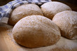 Leavened dough with flour seven cereals (raw)