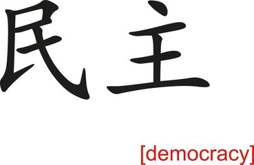 Chinese Sign for democracy