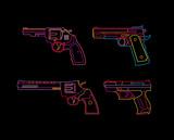 Neon Handgun sign