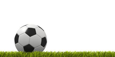 pallone da calcio su prato