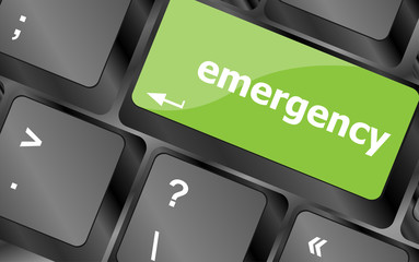 emergency word on keyboard key, notebook computer button