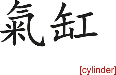 Chinese Sign for cylinder
