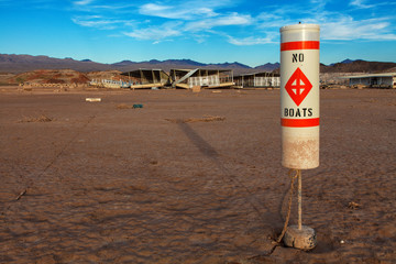 Colorado River and Lake Mead Drought Water Level
