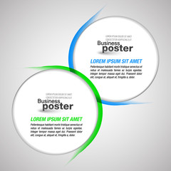 Presentation background blended circular elements